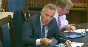 DUP MP Ian Paisley at the Northern Ireland Affairs Committee at Parliament Buildings, Belfast, on Monday.  Photograph: PA