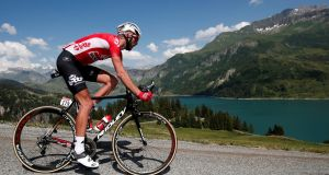 Lotto Soudal rider Jelle Vanendert of Belgium in action during stage 11 of the Tour de France. Photograph: Benoit Tessier/Reuters