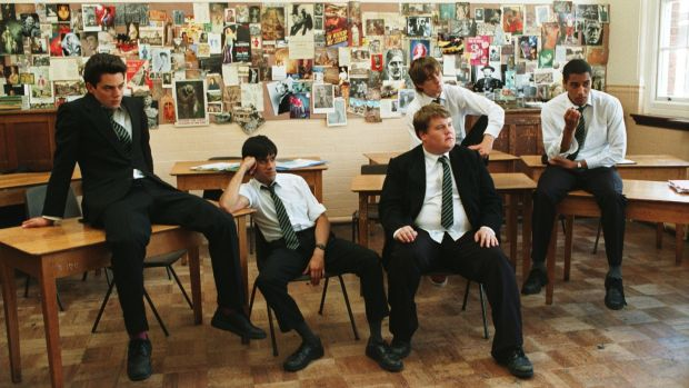 The History Boys: Dominic Cooper, Sacha Dhawan, James Corden, Andrew Knott and Samuel Anderson.