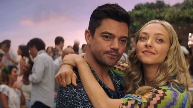 Dominic Cooper and Amanda Seyfried in Mamma Mia! Here We Go Again. Photograph: NBCUniversal