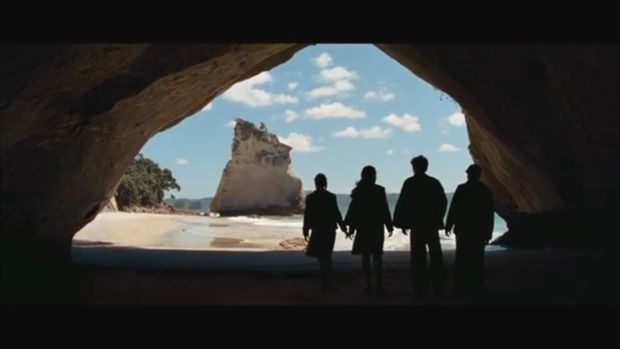 9. A scene from The Chronicles of Narnia: Prince Caspian shot at Cathedral Cove in New Zealand.