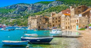 Croatia's tiny and remote Vis island, pictured here, is enjoying its final days of obscurity as it takes on the role of a Greek Island in Mamma Mia! Here We Go Again, due to hit the cinemas this weekend.