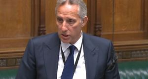 DUP MP Ian Paisley apologises to the House of Commons in London for failing to register two family holidays funded by the Sri Lankan government, which he previously estimated was worth £50,000. Photograph: PA Wire