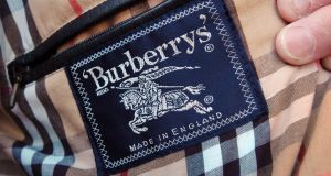Burberry destroyed more than £28 million worth of its fashion and cosmetic products over the past year. Photograph: Barry Batchelor/PA Wire