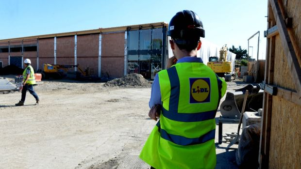 Construction at the Lidl site in Jobstown, Co Dublin. Photograph: Cyril Byrne/The Irish Times