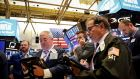 Traders  on the floor of the New York Stock Exchange on Wednesday. Photograph: Brendan McDermid/Reuters