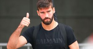 Brazil's goalkeeper Alisson is now a Liverpool player. Photograph: Getty Images