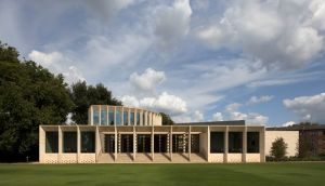 RIBA Sterling Prize shortlist: The Sultan Nazrin Shah Centre, Oxford, designed by Irish architedt Niall McLaughlin. Photograph: Nick Kane