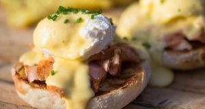 Eggs Benedict: invented by an American stockbroker named Lemuel Benedict. Or by the New York aristocrats Mr and Mrs LeGrand Benedict. Photograph: Cooked/iStock/Getty