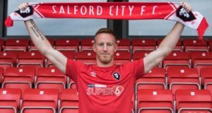 Adam Rooney has left Aberdeen to sign for non-league side Salford City. Photo: Salford City Twitter