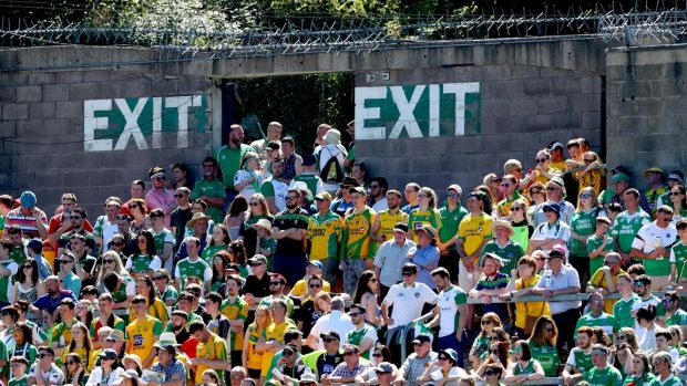 St Tiernach's Park, Clones, on Ulster final day where Monaghan were surprisingly ambushed by Fermanagh. Photograph: James Crombie/Inpho
