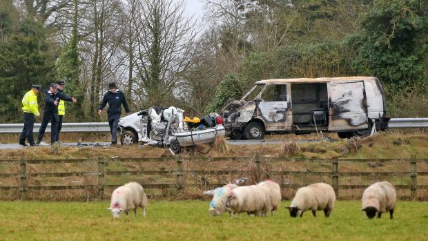 The scene of the fatal crash on the N78 near Athy, Co Kildare, in 2015. Photograph: Colin Keegan/Collins
