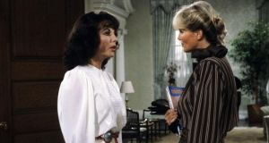 Alexis (Joan Collins) battles with Krystle (Linda Evans) in 'Dynasty', one of the TV classics reshown on CBS Drama, a channel new to Virgin Media Ireland. Photograph: ABC via Getty Images)