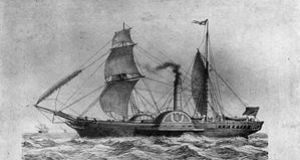 The SS 'Sirius': left Passage West bound for New York on April 4th, 1838
