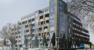 An image of the apartment block on Eglinton Road in Donnybrook that Avestus is seeking permission to build.