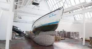 'Rock 'n' Roll', David Mach's newspaper installation, at this year's Galway festival. Photograph: Andrew Downes