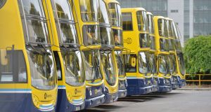 The Dublin Bus network redesign sees the replacement of all existing route numbers with a simplified lettering system. Photograph: Alan Betson