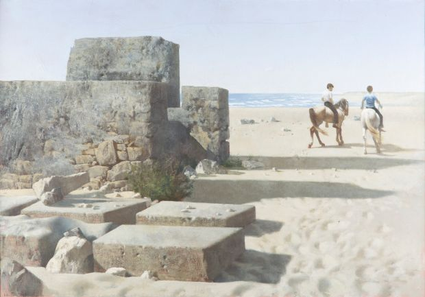 'Ruin and Horsemen' by Patrick Hennessy