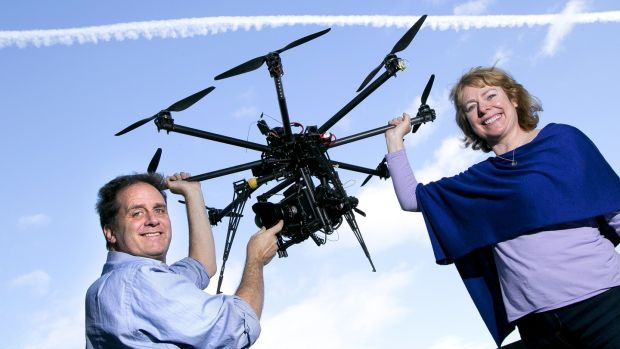 Skytango founders Stephen Flynn and Susan Talbot. The company is now gearing up for a funding round of about €120,000 this year with a second round due in 2019.