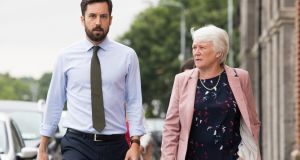 Minister for Housing  Eoghan Murphy and Minister of State Catherine Byrne at the announcement  of the  redevelopment of local authority  lands at Inchicore, Dublin. Photograph: Tom Honan