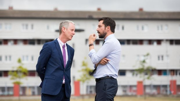 Andrew McDowell, vice-president of the European Investment Bank with Minister for Housing, Eoghan Murphy at the event. Photograph: Tom Honan