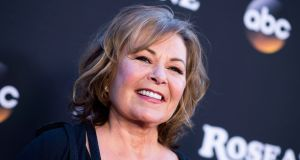 Actor Roseanne Barr attends the 'Roseanne' series premiere at Walt Disney Studios in Burbank, California, in March 2018. Photograph: Valerie Macon/AFP/Getty Images