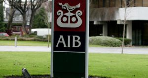 AIB is the worst-performing Irish banking stock so far this year,  down almost 15%.  Photograph:  Cyril Byrne