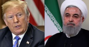 US president Donald Trump and Iran's president Hassan Rouhani. Photographs: AFP/Getty Images