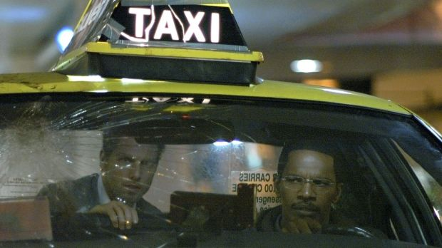 Jamie Foxx and Tom Cruise in Collateral