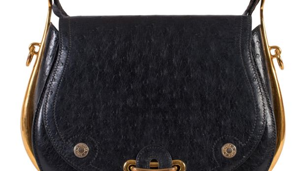 Hermes black-and-gilt model with brass logo buttons (lot 302, €2,800-€3,800)