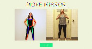 Move Mirror allows you to search through a database of images by standing in front of your webcam and striking a pose.