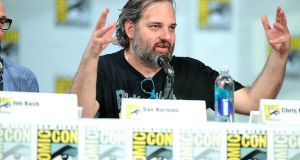 Dan Harmon speaking at the 2014 San Diego Comic Con International, at the San Diego Convention Center in California. Photograph: Greg Skidmore/Wikimedia Commons