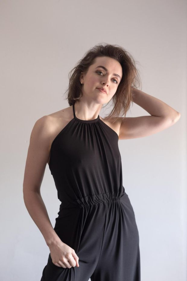 "Black jumpsuit bought ""ages ago"" from Asos Tall - it was tailored to fit by Aoife Eustace Dole in the Gate.""I wear all the time"". Pic Pearl Phelan"