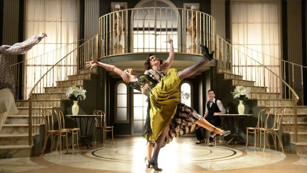 Dancing the Charleston are cast members of The Great Gatsby. Photograph: Dara Mac Donaill/The Irish Times