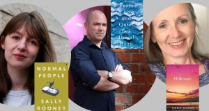 Longlisted for Man Booker Prize 2018: Sally Rooney, Donal Ryan and Anna Burns. Photographs: Nick Bradshaw/The Irish Times; Man Booker