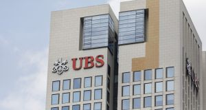 Gains in UBS boosted the banks sector. Photograph: Alex Kraus/Bloomberg