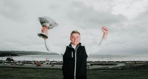 James Sugrue celebrates victory in last year's South of Ireland Championship at  Lahinch Golf Club, Co Clare. Photograph: Brian Arthur