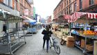 Stalls on Moore Street. Photograph: Aidan Crawley