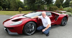 Ford Ireland chairman and managing director Ciarán McMahon with the newly arrived Ford GT, destined for a buyer in the Republic