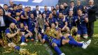 Guinness Pro14 champions Leinster's first home game is  against the Dragons on Saturday, September 15th. Photograph: Billy  Stickland/Inpho