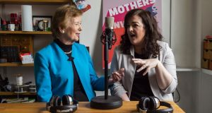 Mothers of Invention presenters Mary Robinson and Maeve Higgins