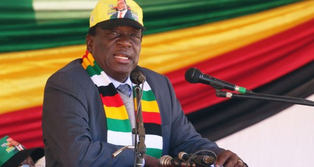 President Emmerson Mnangagwa Addresses An Election Rally Of His Ruling Zanu Pf Party In Mhondoro