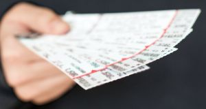 The Cabinet this week approved the introduction of legislation to ban the resale of tickets at multiples of their face value, for events at designated venues which hold 1,000 or more people. Photograph: iStock