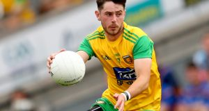 "Donegal's Ryan McHugh:  ""He has been fouled an average 10 or 12 times a game, and there are very few cards for the fouls."" Photograph: James Crombie/Inpho"