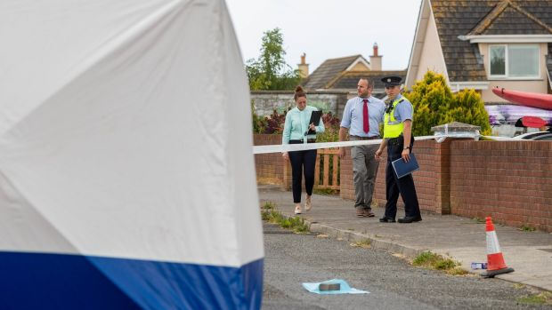The scene of where Jack Power (25) was stabbed at Shanakiel Dunmore East Co. Waterford. Photograph: Dylan Vaughan
