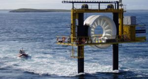 An OpenHydro turbine in Orkney in Scotland. During 2017 the group, with operations in Ireland, Scotland, Canada and Japan, sustained about €160 million in losses