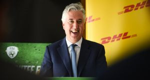 FAI chief John Delaney.  Switching its debt from KKR to Bank of Ireland helped  reduce the FAI's  interest payments from €4.25m in 2016 to €1.6m   last year.   Photograph:   David Fitzgerald/Sportsfile