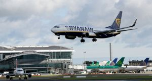 Ryanair said on Thursday that it has cancelled 20 of 300 flights scheduled for Friday August 3rd as a result of the strike. Photograph: Paul Faith/AFP/Getty Images