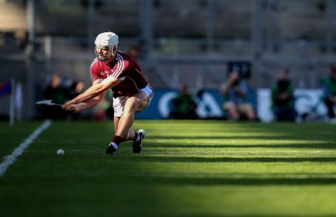 Galway's Joe Canning scores a point Photo: INPHO/Tommy Dickson