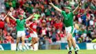 Shane Dowling celebrates Limerick's extra-time win over Cork in Croke Park. Photograph: James Crombie/Inpho